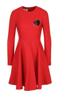 Приталенное мини-платье с декоративной отделкой Valentino