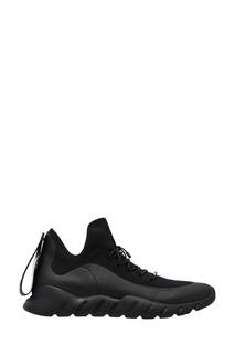 Высокие черные кроссовки Fendi