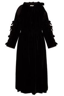 Черное платье c открытыми плечами Fendi