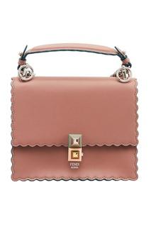 Розовая сумка из кожи Kan I Small Fendi