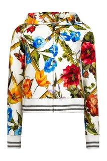 Худи с цветочным принтом Dolce&Gabbana Children