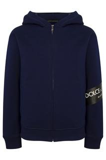 Худи с фактурным логотипом Dolce&Gabbana Children
