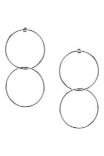 Серебристые серьги с двойными кольцами Lisa Smith