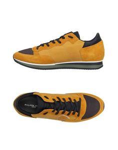 693ab718 Низкие кеды и кроссовки Philippe Model желтого цвета. замшевая ткань ...