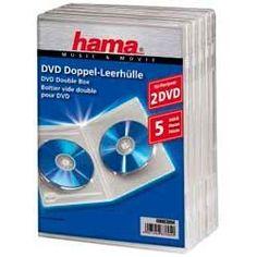 Коробка HAMA H-83894 Jewel Case, 5шт., прозрачный, для 2 дисков [00083894]