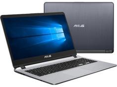 Ноутбук ASUS VivoBook X507UB-EJ176T Grey 90NB0HN1-M02310 (Intel Core i3-6006U 2.0 GHz/8192Mb/500Gb/nVidia GeForce MX110 2048Mb/Wi-Fi/Bluetooth/Cam/15.6/1920x1080/Windows 10 64-bit)
