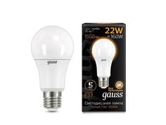 Лампочка Gauss LED A70 22W E27 3000K 102502122