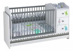 Кроватка-трансформер Polini Basic Монстрики