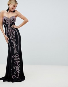 Платье макси бандо Jovani - Черный