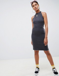 14d269ba12a Джинсовое платье миди с необработанными краями Noisy May - Черный