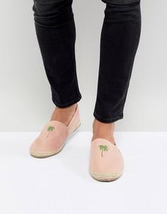 Эспадрильи с пальмовым принтом Brave Soul - Розовый
