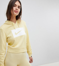 Худи лимонного цвета с логотипом-галочкой Nike - Желтый