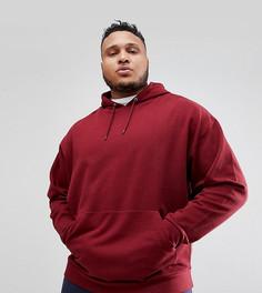Oversize-худи бордового цвета ASOS DESIGN Plus - Красный