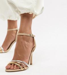 Кожаные босоножки на каблуке Aldo - Бежевый