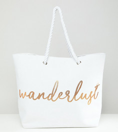 Пляжная сумка кремового цвета South Beach Wanderlust - Кремовый