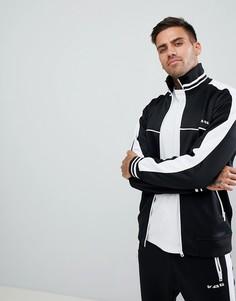 Черная спортивная куртка с полосками по бокам Diesel S-Roots 1 - Черный