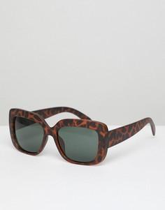 Квадратные солнцезащитные oversize-очки в черепаховой оправе AJ Morgan - Коричневый