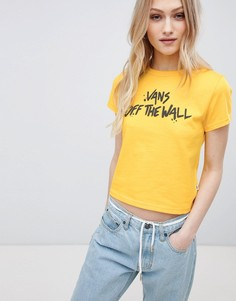 Желтая футболка Vans Off The Wall - Желтый