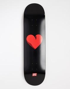 Скейтборд с изображением сердца SWEET SKTBS - 8.375 дюйма - Черный