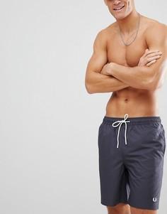 Темно-серые шорты для плавания с логотипом Fred Perry - Серый