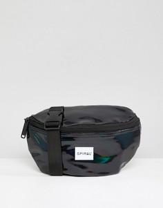 Черная сумка-кошелек на пояс Spiral Rave - Черный