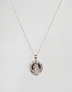 Золотистое ожерелье с медальоном Chained & Able - Золотой