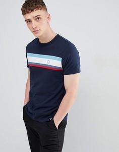 Темно-синяя футболка с полосками Pretty Green - Темно-синий