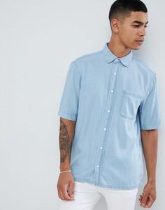Светлая джинсовая рубашка Pull&Bear - Синий Pull&;Bear