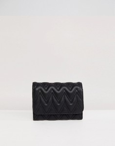 Стеганый кошелек с зигзагообразным узором ASOS DESIGN - Черный