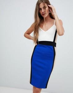 Платье миди с бретельками New Look - Синий