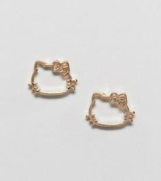 Серьги-гвоздики Hello Kitty x ASOS DESIGN - Золотой