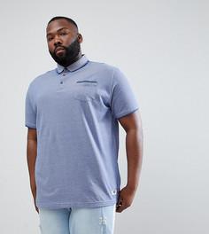 Синяя меланжевая футболка-поло с карманом Duke Plus - Синий