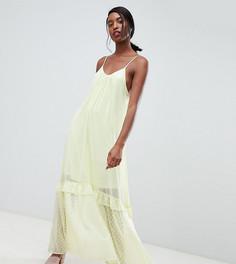 Шифоновое платье макси на бретельках Vero Moda Tall - Желтый