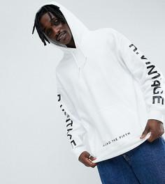 Oversize-худи белого цвета с логотипом Reclaimed Vintage inspired - Белый