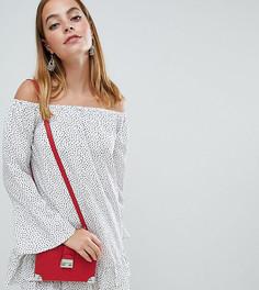 Свободное платье в горошек с широким вырезом Boohoo Petite - Белый