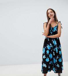 Платье миди на пуговицах Milk It Vintage - Синий
