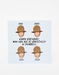 Открытка на день рождения Central 23 May You Age Like Pharrell - Мульти