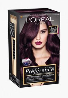 """Краска для волос LOreal Paris LOreal """"Preference"""", стойкая, оттенок 4.26, Благородный Сливовый"""