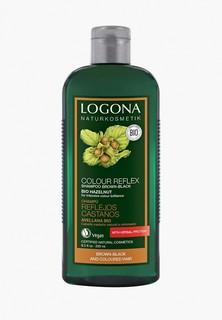 Шампунь Logona COLOR REFLEX для темных волос с Лесным Орехом, 250 мл