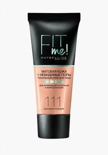 """Тональный крем Maybelline New York """"Fit Me"""", матирующий, скрывающий поры, Оттенок 111, Ванильно-розовый, 30 мл"""