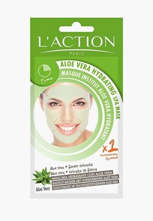 Маска для лица LAction Laction SPA с алоэ вера увлажняющая Aloe Vera Hydrating SPA Mask, 20 г