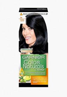 """Краска для волос Garnier """"Color Naturals"""", стойкая, питательная, оттенок 1+, Ультра черный"""