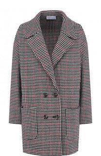 Двубортное шерстяное пальто с накладными карманами REDVALENTINO