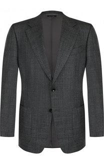 Однобортный пиджак из смеси шерсти и шелка Tom Ford
