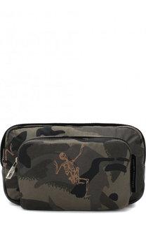 Текстильная поясная сумка на молнии Alexander McQueen