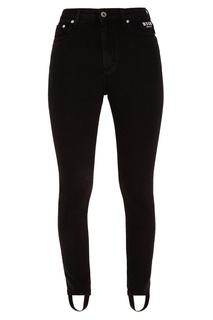 Черные джинсы со штрипками Msgm