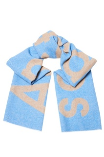 Голубой шарф с логотипом Acne Studios