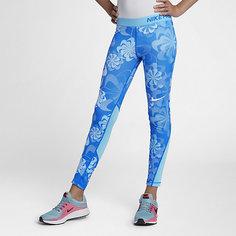 Тайтсы для тренинга с принтом для девочек школьного возраста Nike Pro