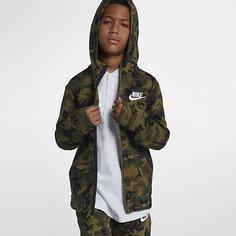 Клубная флисовая худи с молнией во всю длину для мальчиков школьного возраста Nike Sportswear