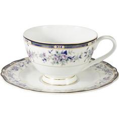 Чашка с блюдцем 0.2 л Anna Lafarg Emily Маркиза (AL-M1886/CS-E9)